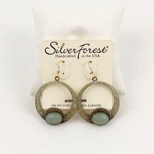 Silver Forest Aventurine Earrings NWOT